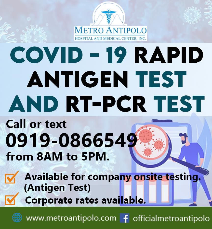 RT PCR Test and Rapid Antigen Test