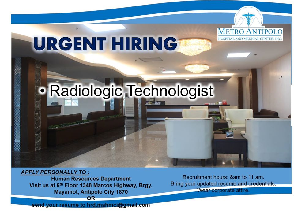 Urgent Hiring for Radiologic Technologist